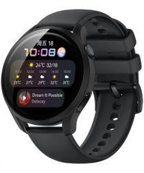 Huawei Watch 3 Case Hard Plastic Bumper met Tempered Glass Zwart