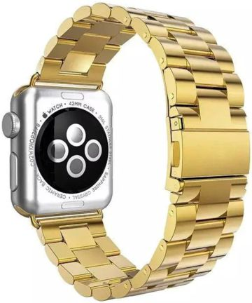 Apple Watch Band Luxe Roestvrij Staal 4/5 44MM, 3/2/1 42MM Goud