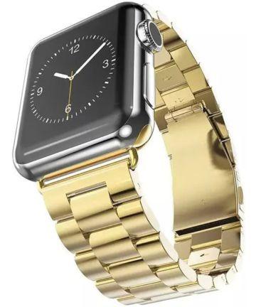 Apple Watch 44MM / 42MM Bandje Schakelband Roestvrij Staal Goud