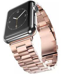Apple Watch 44MM / 42MM Bandje Schakelband Roestvrij Staal Roze Goud