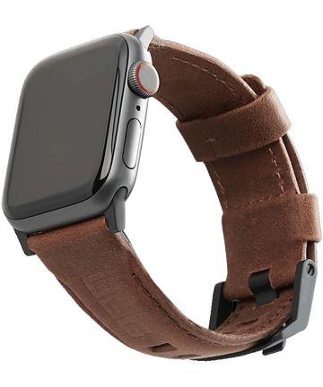 Urban Armor Gear Leather Apple Watch 44MM / 42MM Bandje Bruin