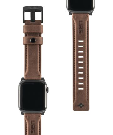 Urban Armor Gear Leather Apple Watch Band 4/5 44MM, 3/2/1 42MM Bruin