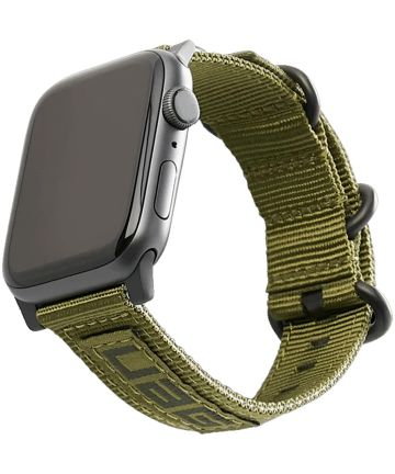 Urban Armor Gear Nato Apple Watch 44MM / 42MM Bandje Olive