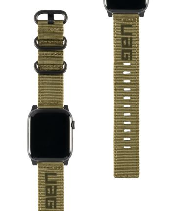 Urban Armor Gear Nato Apple Watch Band 4/5 44MM, 3/2/1 42MM Groen