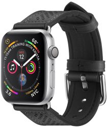 Spigen Retro Fit Apple Watch 40MM / 38MM Bandje Kunst Leer Zwart