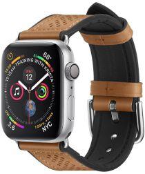 Spigen Retro Fit Apple Watch 44MM / 42MM Bandje Kunst Leer Bruin