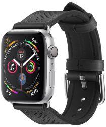Spigen Retro Fit Apple Watch 44MM / 42MM Bandje Kunst Leer Zwart