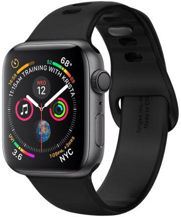 Spigen Air Fit Apple Watch 44MM / 42MM Bandje Siliconen Zwart