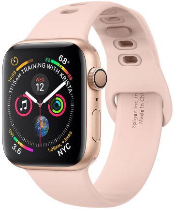 Spigen Air Fit Apple Watch 44MM / 42MM Bandje Siliconen Roze Bandjes