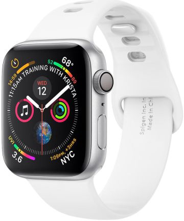 Spigen Air Fit Apple Watch 44MM / 42MM Bandje Siliconen Wit