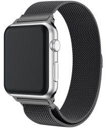Apple Watch 44MM / 42MM Bandje Milanese Roestvrij Staal Zwart