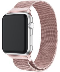 Apple Watch Band Milanese Roestvrij Staal 4/5 44MM, 3/2/1 42MM Roze
