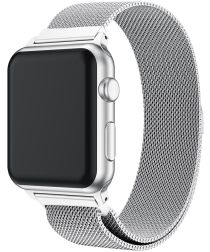 Apple Watch Band Milanese Roestvrij Staal 4/5 40MM, 3/2/1 38MM Zilver