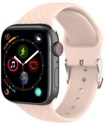 Apple Watch 40MM / 38MM Bandje Siliconen met 3D Diamant Textuur Roze Bandjes