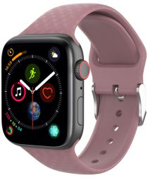 Apple Watch 40MM / 38MM Bandje Siliconen met 3D Diamant Textuur Paars