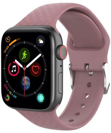 Apple Watch 40MM / 38MM Bandje Siliconen met 3D Diamant Textuur Paars