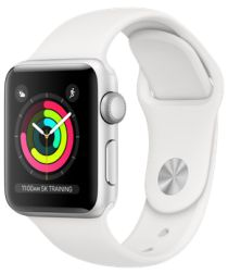 Apple Watch 40MM / 38MM Bandje Siliconen met Drukknoop Sluiting Wit