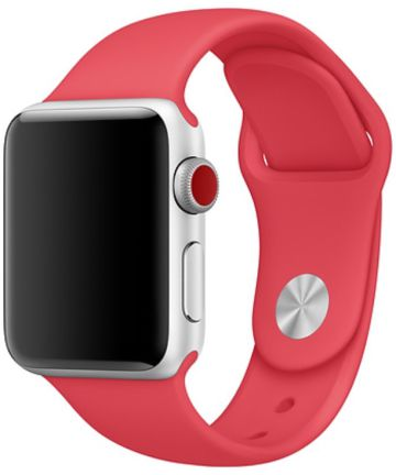Apple Watch Band Siliconen 4/5 40MM, 3/2/1 38MM Rood