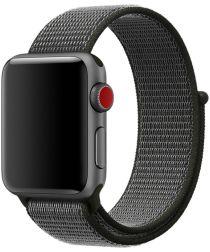 Apple Watch 44MM / 42MM Bandje Nylon met Klittenband Grijs/Groen