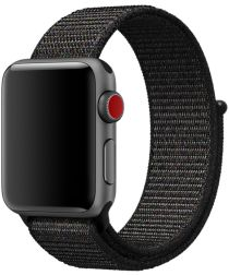 Apple Watch Band Nylon 4/5 40MM, 3/2/1 38MM Zwart/Rood