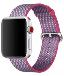 Originele Apple Nylon Apple Watch Band 4/5 44MM, 3/2/1 42MM Berry