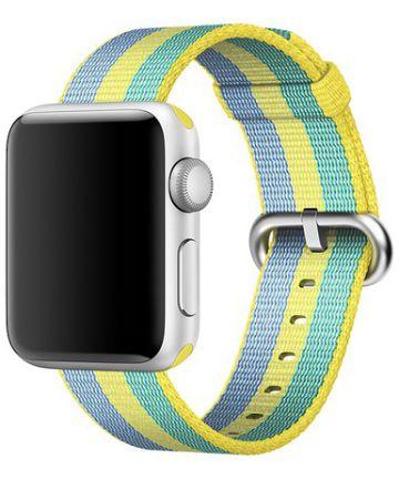 Origineel Apple Geweven Nylon Apple Watch 44MM / 42MM Bandje Geel