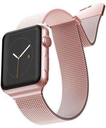 X-Doria Hybrid Mesh Apple Watch Band 4/5 44MM, 3/2/1 42MM Roze Goud