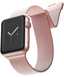X-Doria Hybrid Mesh Apple Watch Band 4/5 40MM, 3/2/1 38MM Roze Goud