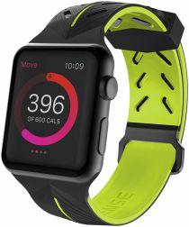 Raptic Action Apple watch 40mm 38mm bandje siliconen zwart groen