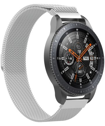 Samsung Galaxy Watch Band Milanese Roestvrij Staal 46MM Zilver