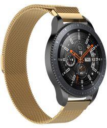 Universeel Smartwatch 22MM Bandje Milanese Roestvrij Staal Goud