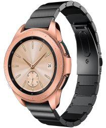 Universeel Smartwatch 20MM Bandje Luxe Schakels Roestvrij Staal Zwart