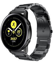 Universeel Smartwatch 20MM Bandje Roestvrij Staal met Schakels Zwart
