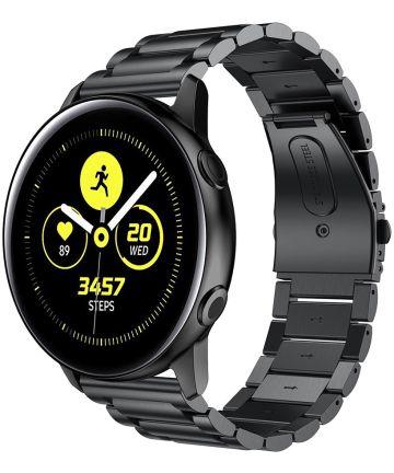Universeel Smartwatch 20MM Bandje Roestvrij Staal met Schakels Zwart Bandjes