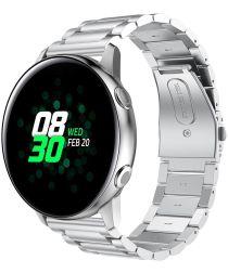 Universeel Smartwatch 20MM Bandje Roestvrij Staal met Schakels Zilver