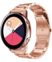 Universeel Smartwatch 20MM Bandje Roestvrij Staal met Schakels Roze
