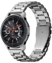 Spigen Modern Fit Universeel Smartwatch 22MM Bandje RVS Zilver