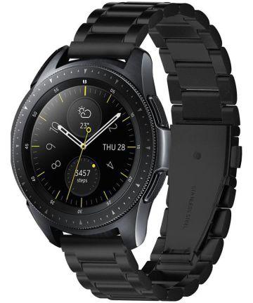 Spigen Modern Fit Universeel Smartwatch 20MM Bandje RVS Zwart Bandjes