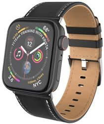 Hoco Duke Series Apple Watch 40MM / 38MM Bandje Echt Leer Zwart