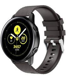 Universeel Smartwatch 20MM Bandje Siliconen met Gesp Sluiting Zwart