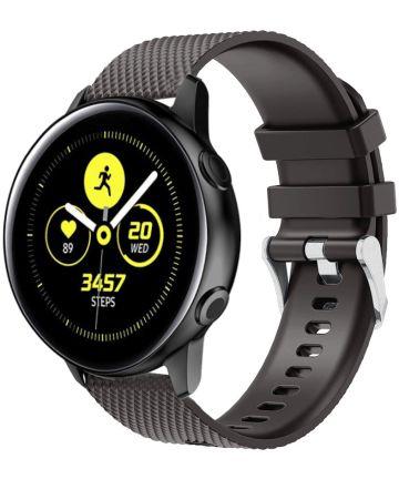 Universeel Smartwatch 20MM Bandje Siliconen met Gesp Sluiting Zwart Bandjes