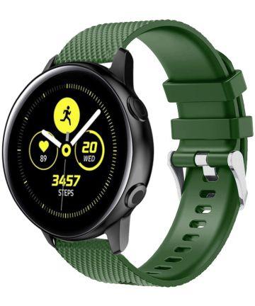 Universeel Smartwatch 20MM Bandje Siliconen met Gesp Sluiting Groen Bandjes