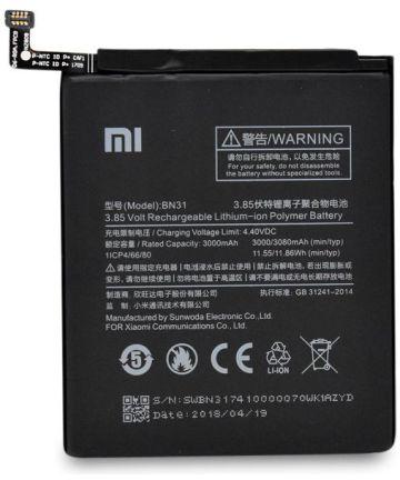 Xiaomi Redmi Note 5A Batterij BN31 3000mAh