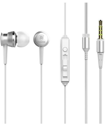 Baseus Lark Universele Bedrade In-Ear Oordopjes 3.5mm Jack Wit