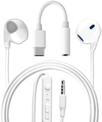 4Smarts Melody Headset met USB Type-C Aansluiting Wit