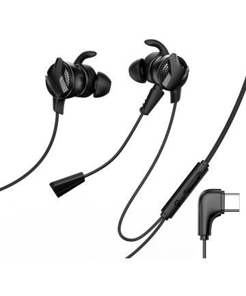 Baseus Gamo H15 Universele USB-C Oordopjes met Microfoon Zwart Headsets