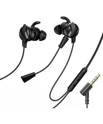 Baseus Gamo H15 Universele 3.5mm Jack Oordopjes met Microfoon Zwart Headsets