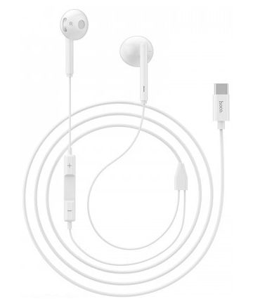 Hoco USB-C In-Ear Headset met Microfoon Wit
