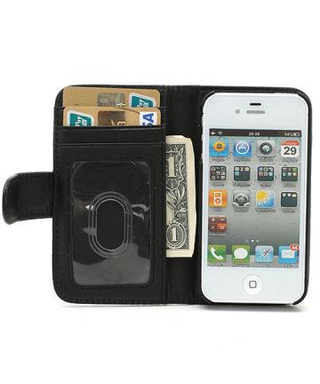 iPhone 4(S) Wallet Case Zwart