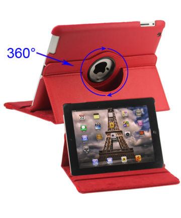 Apple iPad 2/3/4 360 Graden Case met Stand Rood